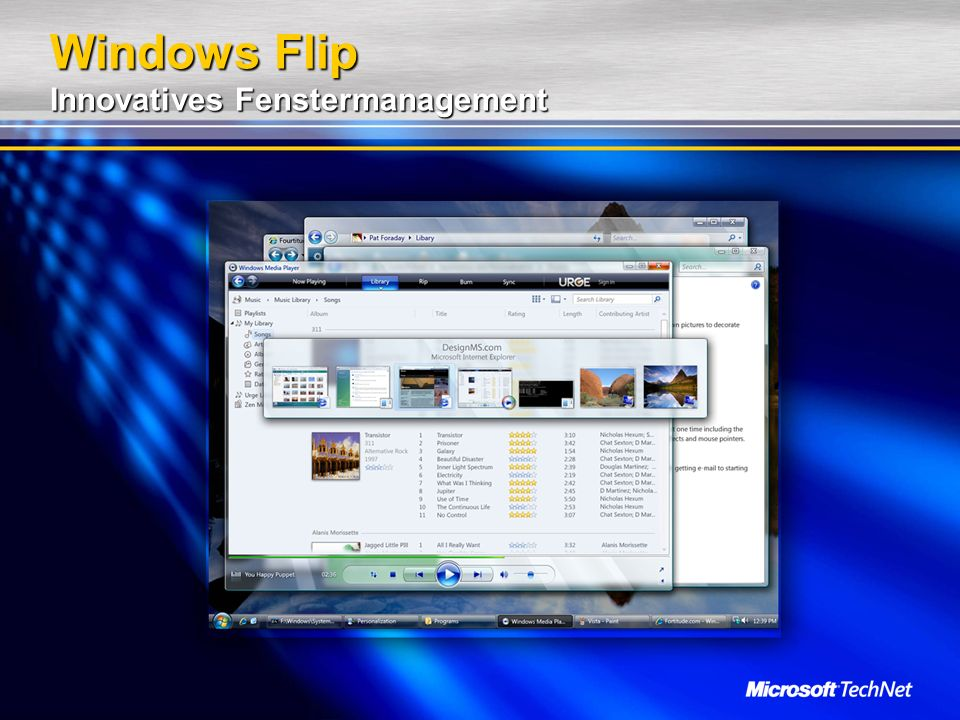 Windows Flip Innovatives Fenstermanagement