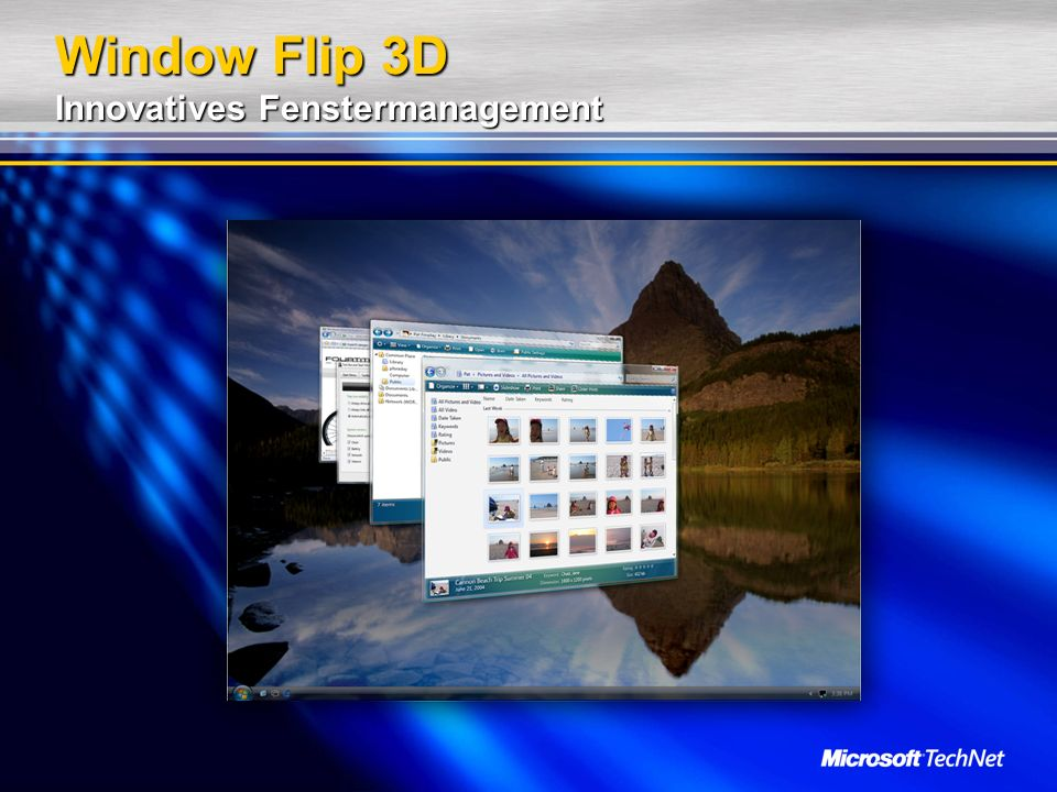 Window Flip 3D Innovatives Fenstermanagement