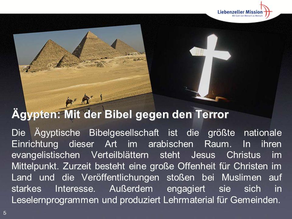 Ägypten: Mit der Bibel gegen den Terror Die Ägyptische Bibelgesellschaft ist die größte nationale Einrichtung dieser Art im arabischen Raum.