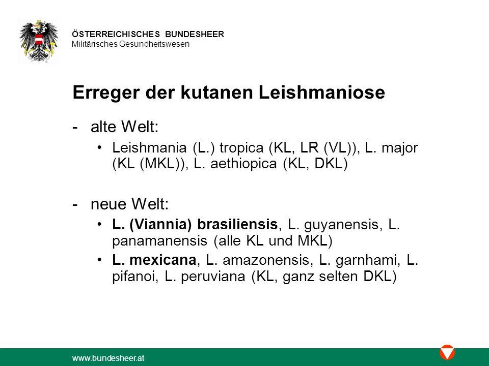 www.bundesheer.at ÖSTERREICHISCHES BUNDESHEER Militärisches Gesundheitswesen 19)Treatment of New World cutaneous leishmaniasis with miltefosine.