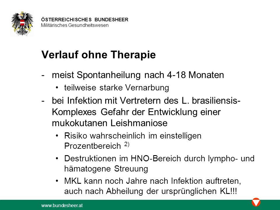 www.bundesheer.at ÖSTERREICHISCHES BUNDESHEER Militärisches Gesundheitswesen Miltefosin © Stefan WÖHRL