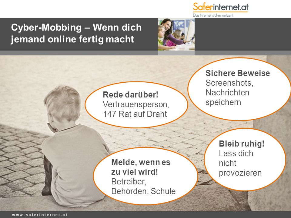Cyber-Mobbing – Wenn dich jemand online fertig macht w w w.