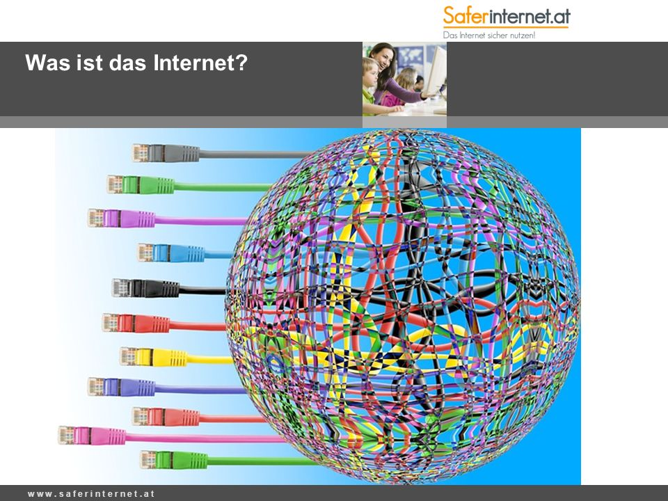 Was ist das Internet? w w w. s a f e r i n t e r n e t. a t