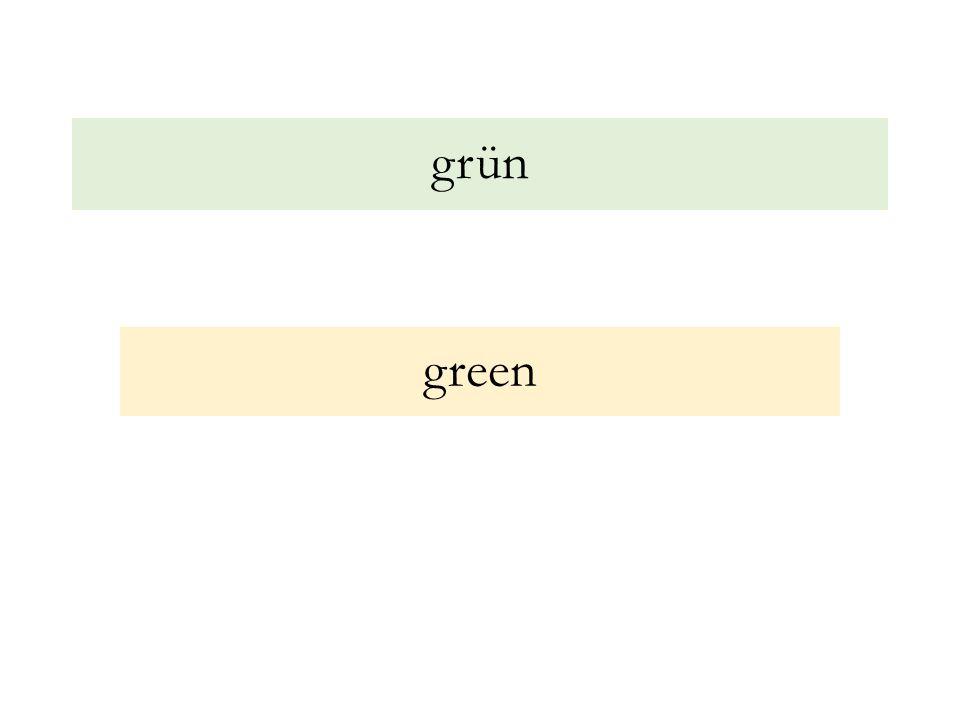 grün green