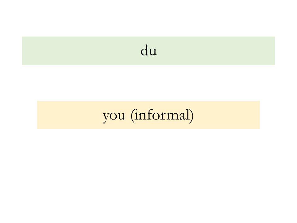 du you (informal)