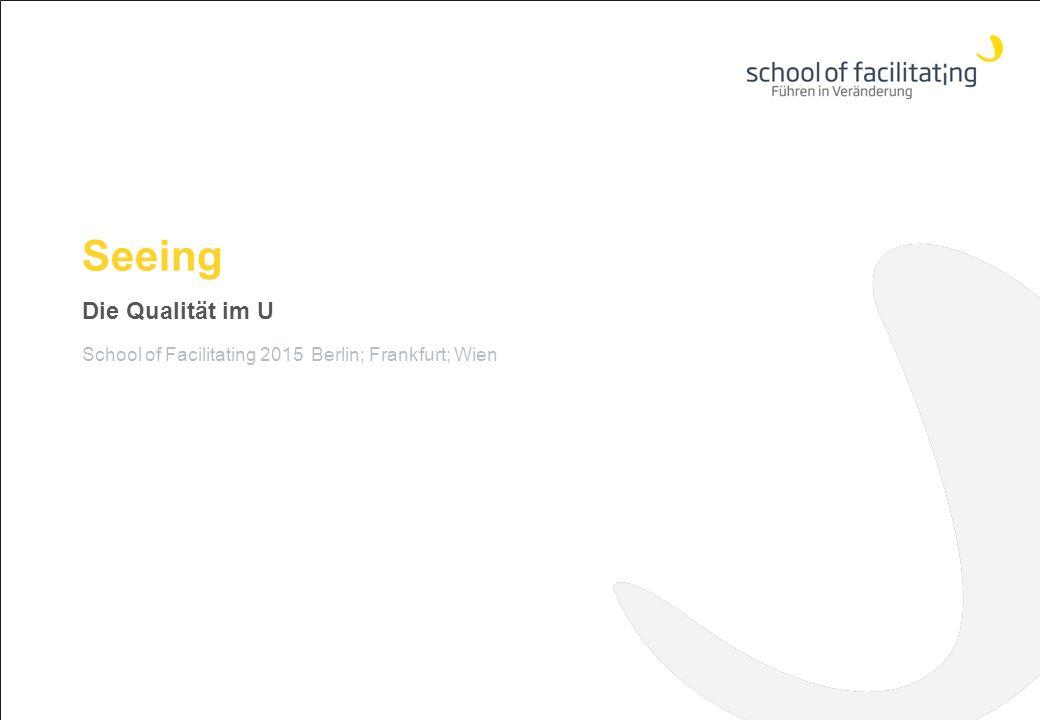 Seeing Die Qualität im U School of Facilitating 2015 Berlin; Frankfurt; Wien