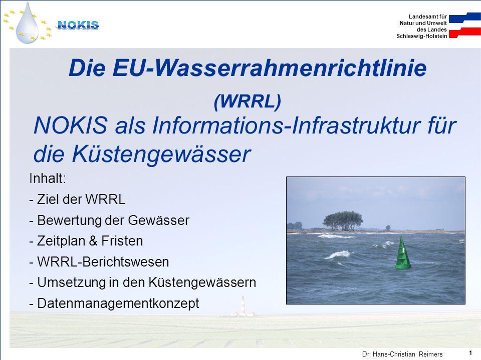 Landesamt für Natur und Umwelt des Landes Schleswig-Holstein Dr.
