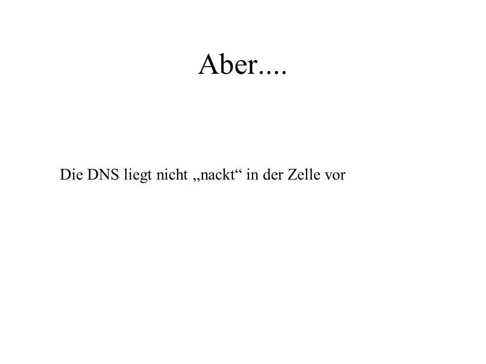 """Aber.... Die DNS liegt nicht """"nackt"""" in der Zelle vor"""