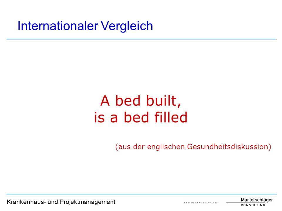 Krankenhaus- und Projektmanagement A bed built, is a bed filled (aus der englischen Gesundheitsdiskussion) Internationaler Vergleich