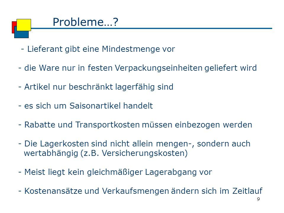 9 Probleme….