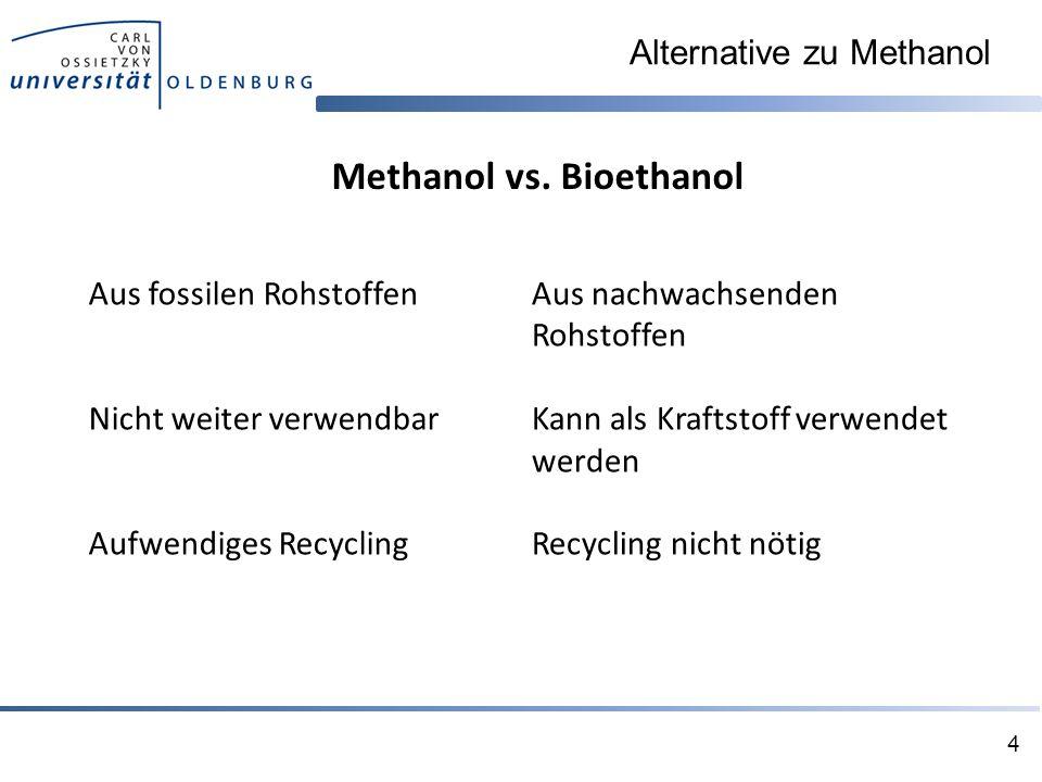 Alternative zu Methanol 4 Methanol vs.