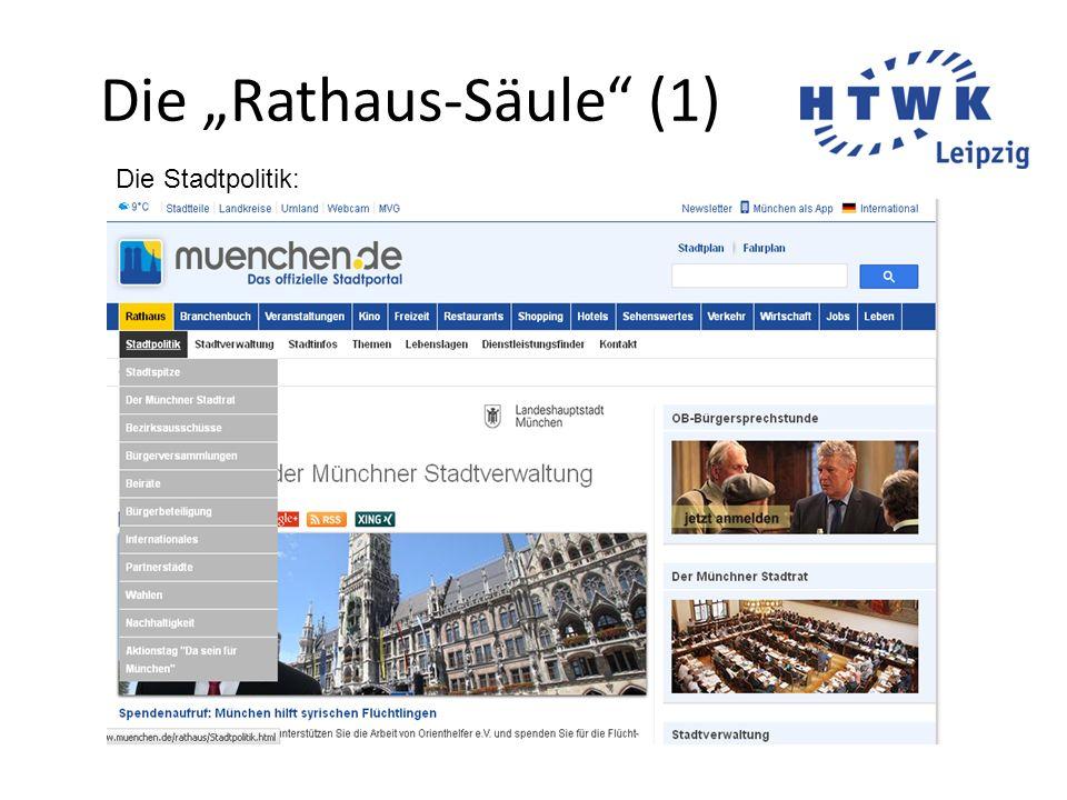 """Die """"Rathaus-Säule"""" (1) Die Stadtpolitik:"""
