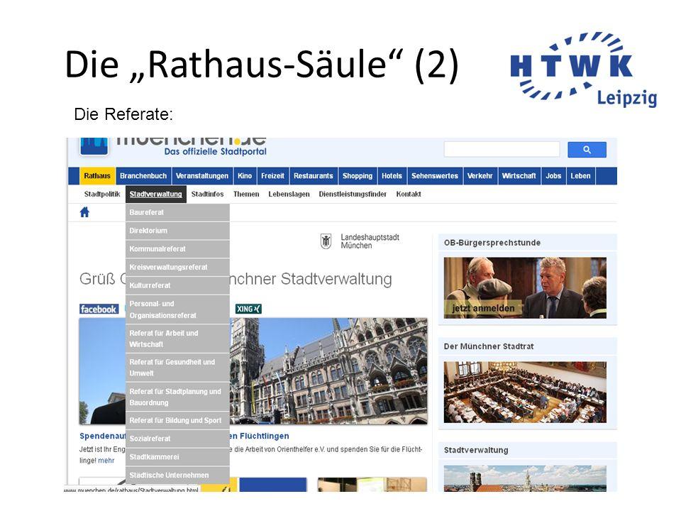 """Die """"Rathaus-Säule"""" (2) Die Referate:"""