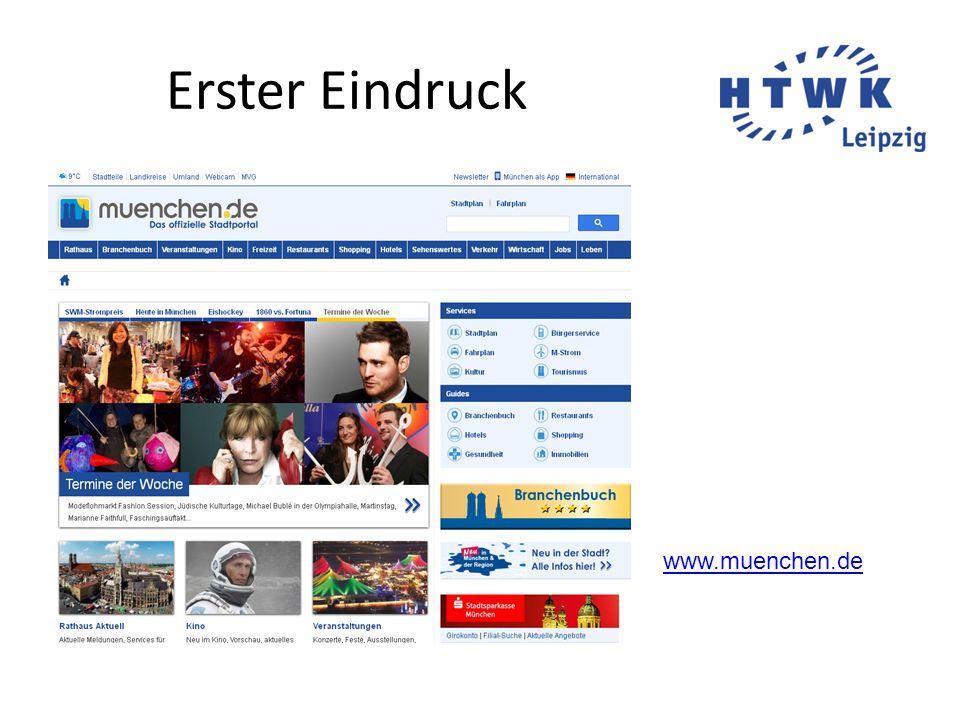 Erster Eindruck www.muenchen.de