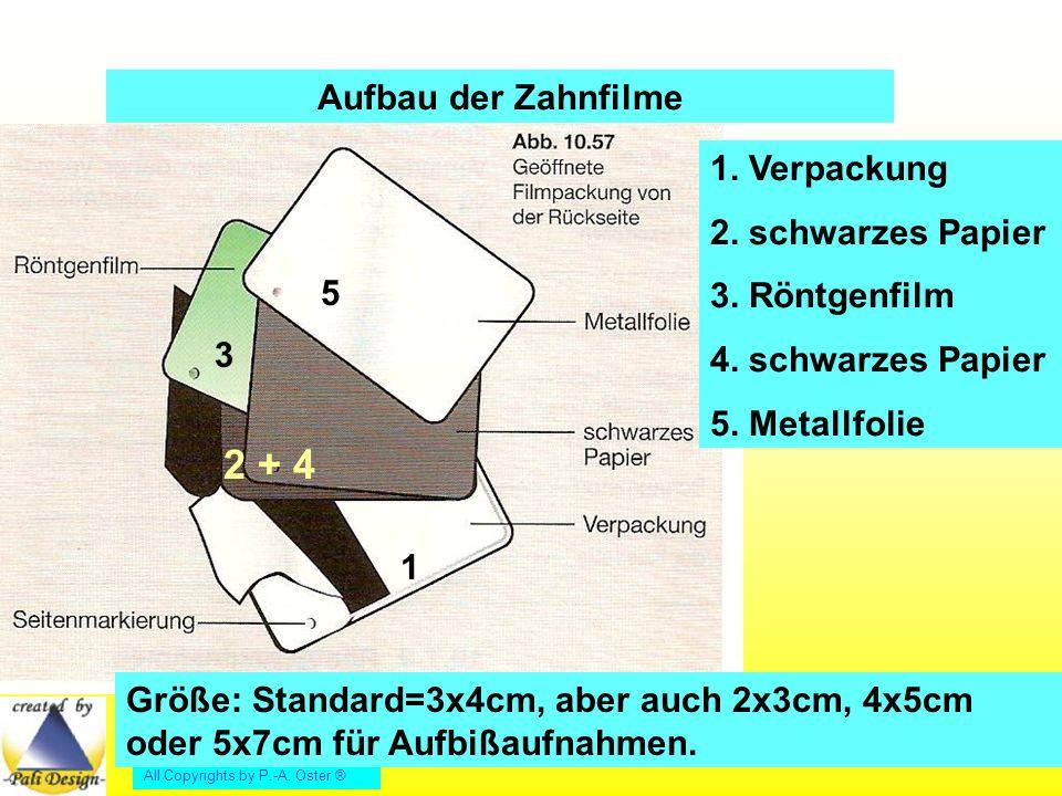 All Copyrights by P.-A.Oster ® Aufbau der Zahnfilme 1.