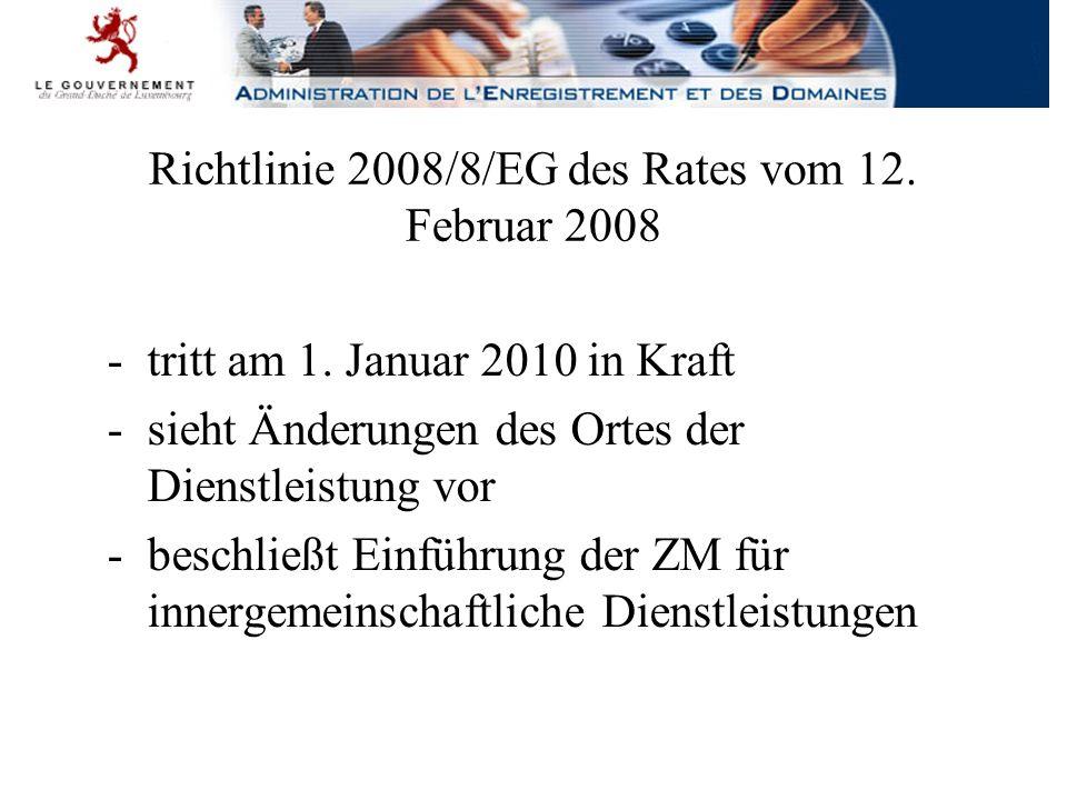 Richtlinie 2008/117/EG des Rates vom 16.Dezember 2008 -tritt am 1.