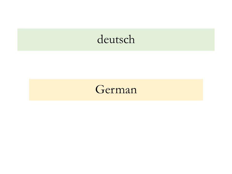 deutsch German