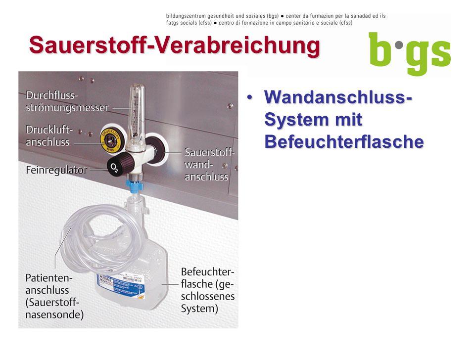 Sauerstoff-Verabreichung Wandanschluss- System mit BefeuchterflascheWandanschluss- System mit Befeuchterflasche