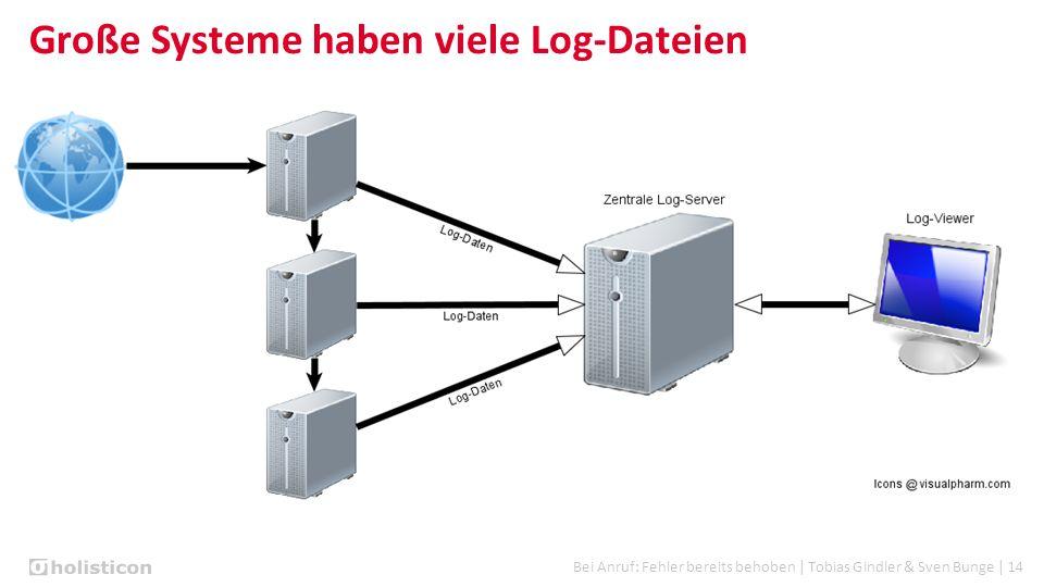 Bei Anruf: Fehler bereits behoben | Tobias Gindler & Sven Bunge | 14 Große Systeme haben viele Log-Dateien