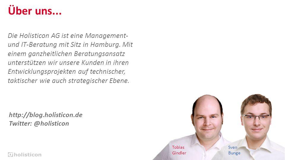 Bei Anruf: Fehler bereits behoben | Tobias Gindler & Sven Bunge | 2 Über uns... Tobias Gindler Sven Bunge Die Holisticon AG ist eine Management- und I