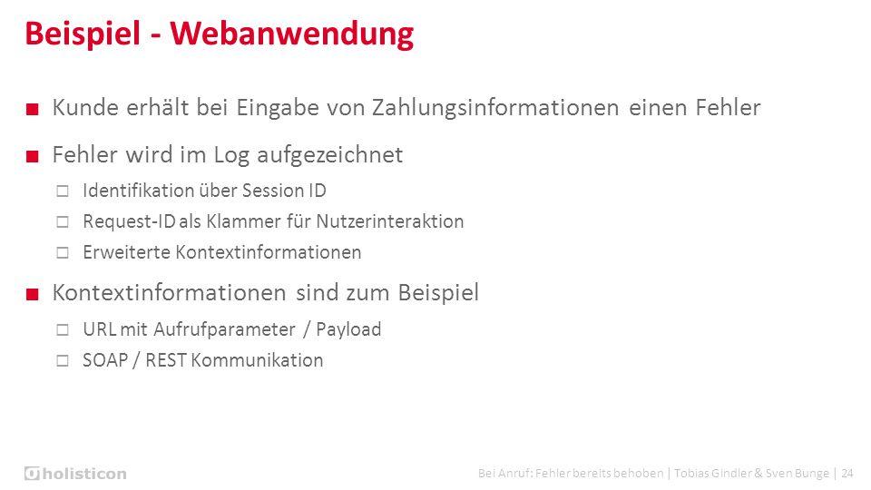 Bei Anruf: Fehler bereits behoben | Tobias Gindler & Sven Bunge | 24 Beispiel - Webanwendung ■ Kunde erhält bei Eingabe von Zahlungsinformationen eine