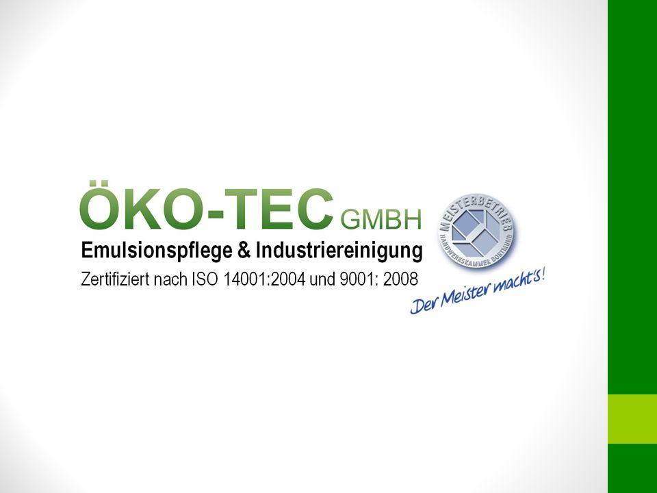 Das Unternehmen Die Firma ÖKO-TEC GmbH ist ein seit Jahren etabliertes Unternehmen im Bereich der Emulsionspflege und der Industriereinigung.