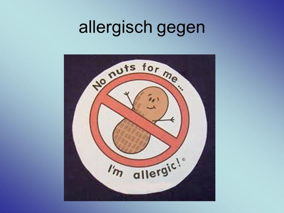 allergisch gegen
