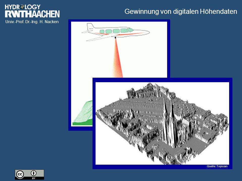 Univ.-Prof. Dr.-Ing. H. Nacken Quelle: Topscan Gewinnung von digitalen Höhendaten