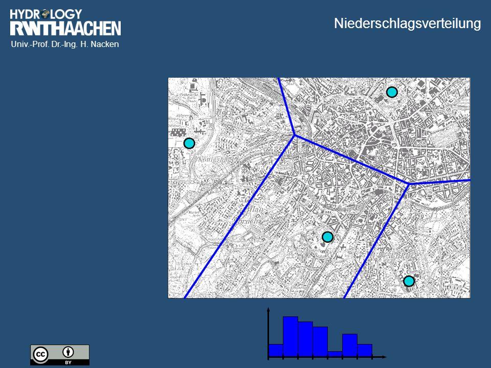 Univ.-Prof. Dr.-Ing. H. Nacken Niederschlagsverteilung