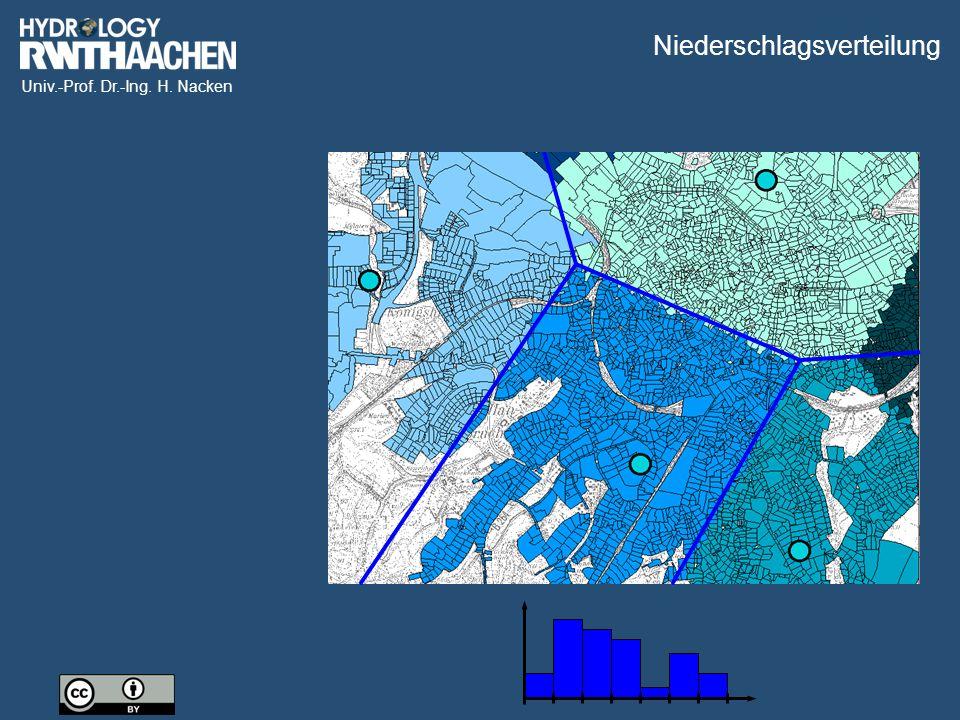 Univ.-Prof. Dr.-Ing. H. Nacken Quelle: DWD Radarniederschlag