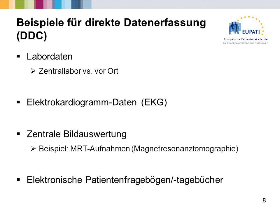 Europäische Patientenakademie zu Therapeutischen Innovationen  Labordaten  Zentrallabor vs.