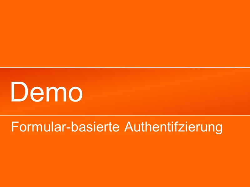 Demo Formular-basierte Authentifzierung