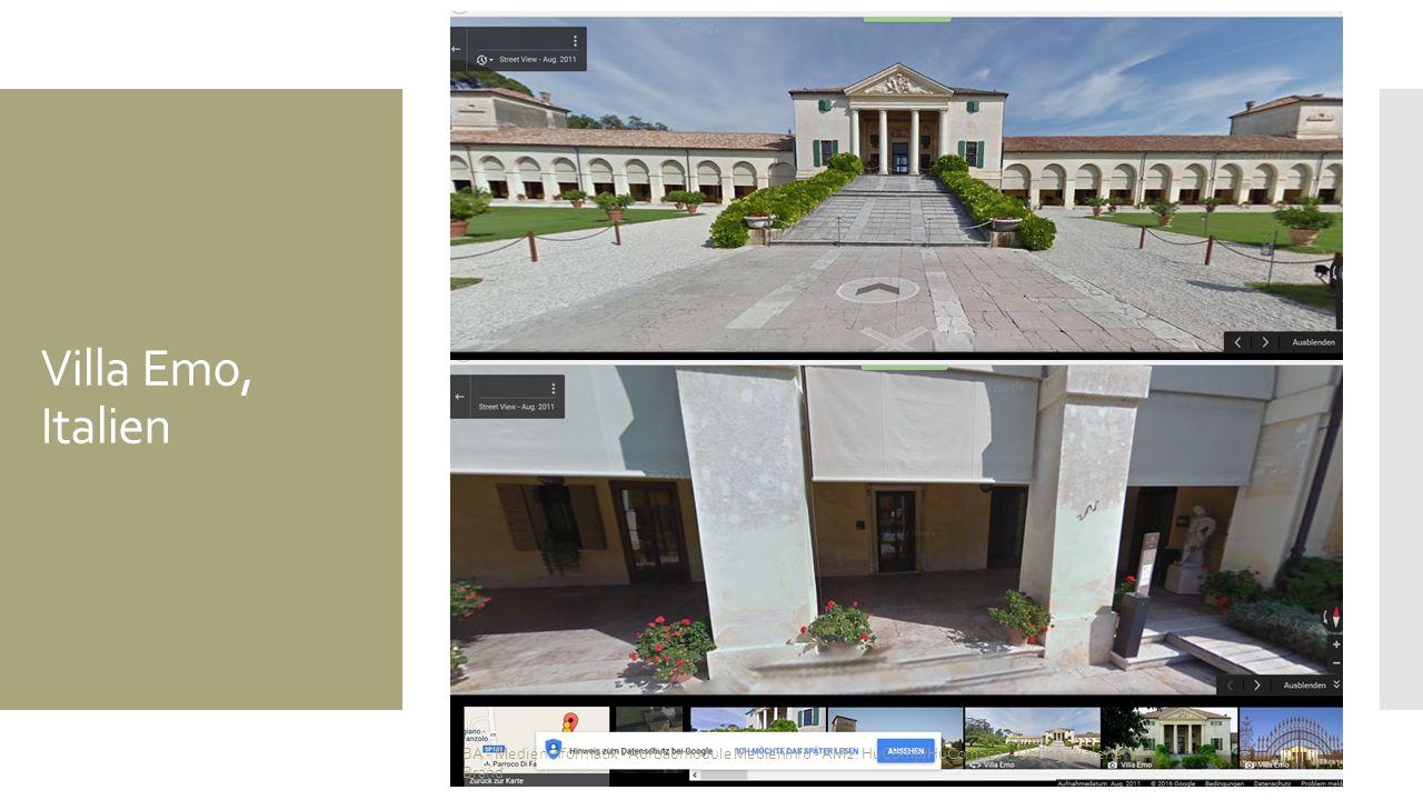 Villa Emo, Italien BA - Medieninformatik - Aufbaumodule Medieninfo - AM2: HuComp/HuComSc2 - Übung - Valena Brand