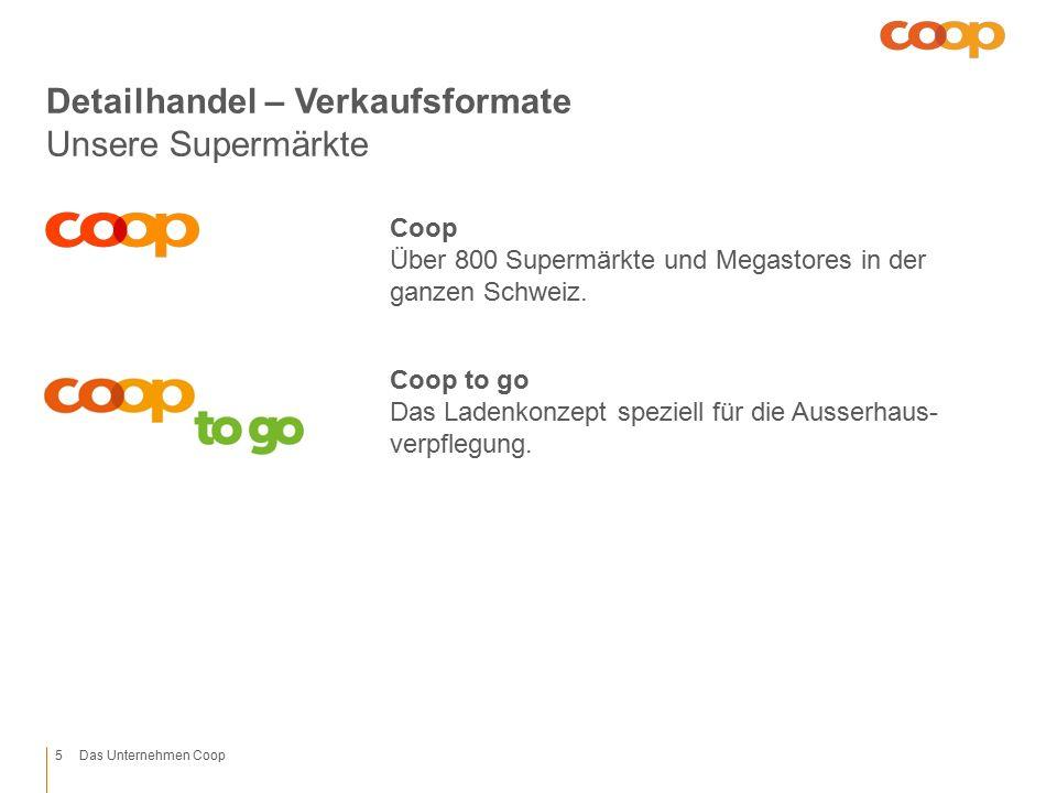 1/33/42/31 / 21/4Rand 11.60 7.60 Platzhalter unten 4.40 Platzhalter oben 8.40 Mitte 1.60 3/4 1/4 Kapitel unten 8.40 Fusszeile 5.60 Titel unten 7.60 Titel oben Das Unternehmen Coop Detailhandel – Verkaufsformate Unsere Supermärkte Coop Über 800 Supermärkte und Megastores in der ganzen Schweiz.