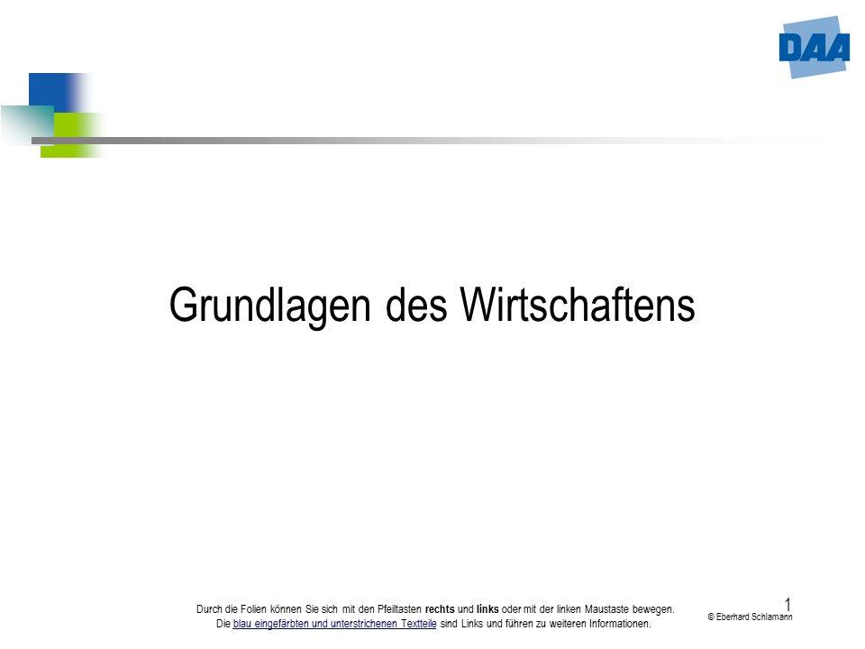 1 © Eberhard Schlamann Durch die Folien können Sie sich mit den Pfeiltasten rechts und links oder mit der linken Maustaste bewegen. Die blau eingefärb