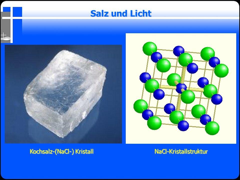 Kochsalz-(NaCl-) Kristall Kochsalz-(NaCl-) Kristall Salz und Licht NaCl-Kristallstruktur NaCl-Kristallstruktur