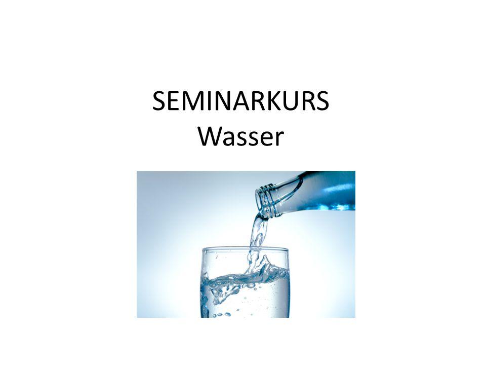 """Unser heutiges Ziel  Das Seminarkursthema """"Wasser strukturieren  Teilthemen finden  Erste Grundlageninformationen vermitteln  Erste Ideen für mögliche Arbeitsthemen erhalten"""