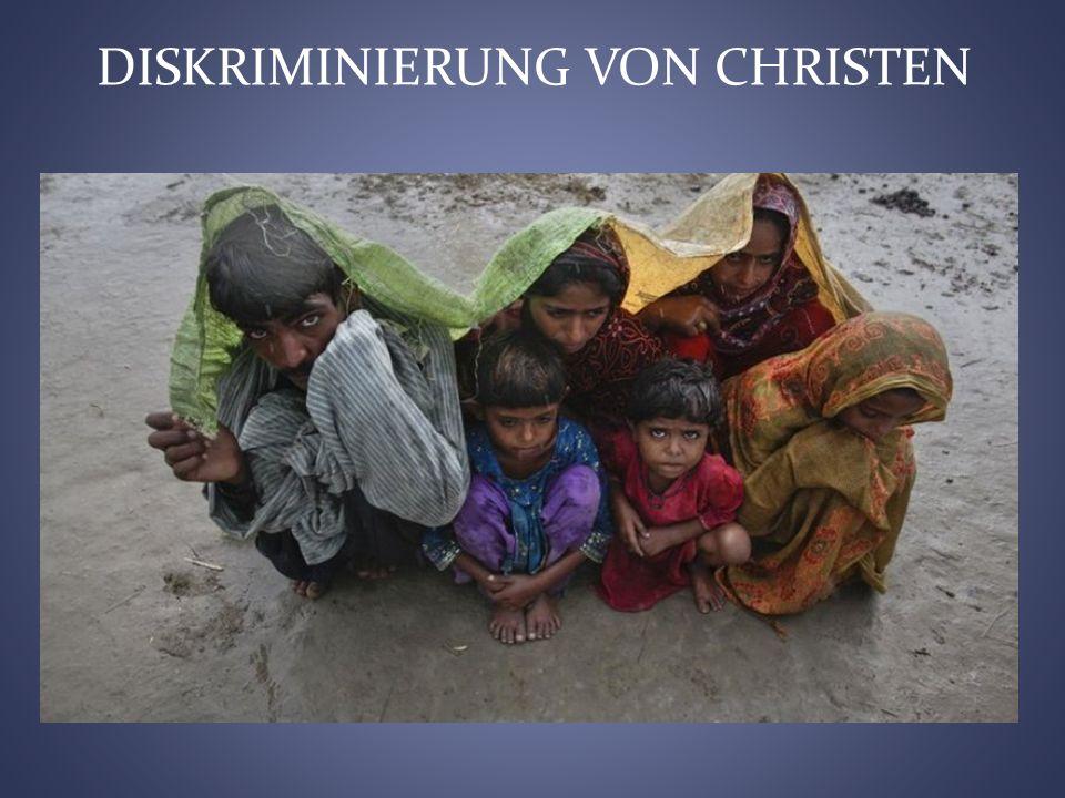 DISKRIMINIERUNG VON CHRISTEN