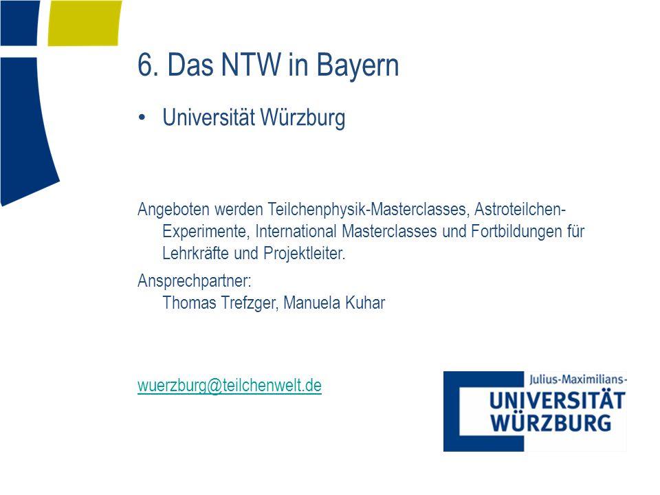 Universität Würzburg Angeboten werden Teilchenphysik-Masterclasses, Astroteilchen- Experimente, International Masterclasses und Fortbildungen für Lehr