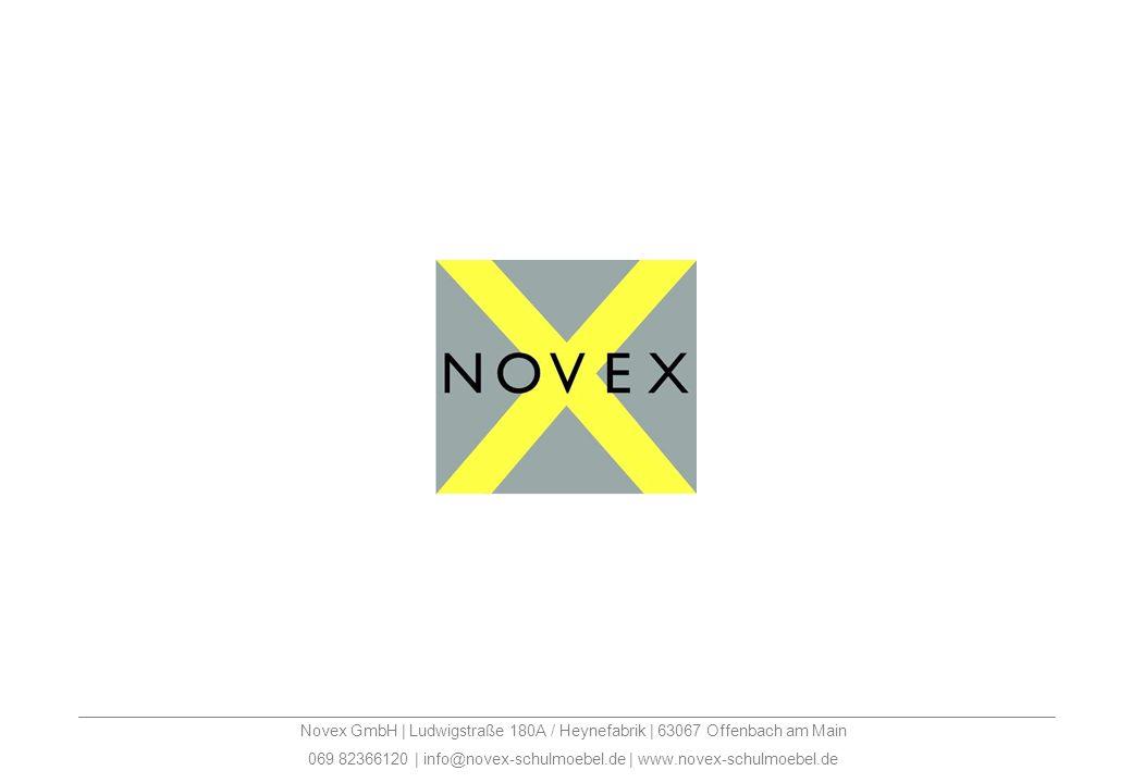 Novex GmbH | Ludwigstraße 180A / Heynefabrik | 63067 Offenbach am Main 069 82366120 | info@novex-schulmoebel.de | www.novex-schulmoebel.de