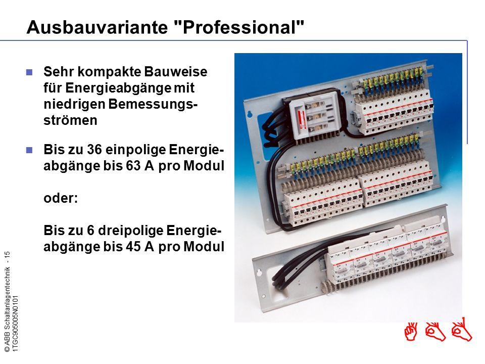 © ABB Schaltanlagentechnik - 15 1TGC905005N0101 ABB Ausbauvariante