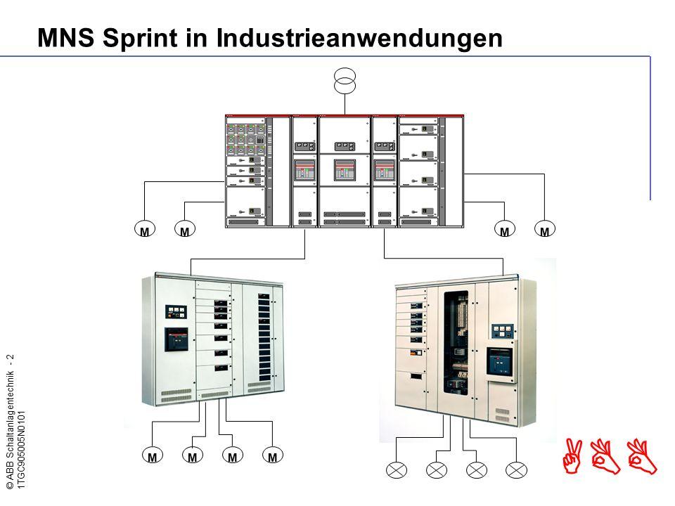 © ABB Schaltanlagentechnik - 3 1TGC905005N0101 ABB MNS Sprint in der Gebäudeausrüstung
