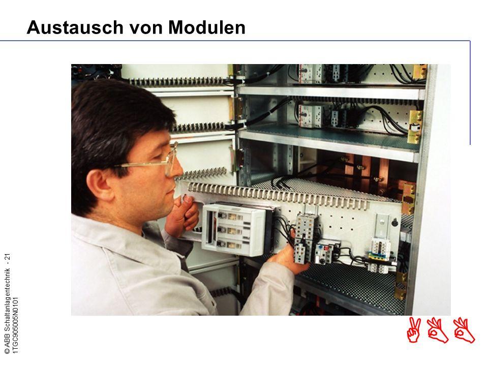 © ABB Schaltanlagentechnik - 21 1TGC905005N0101 ABB Austausch von Modulen
