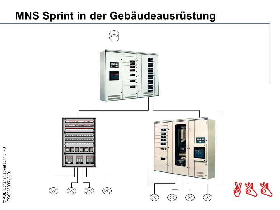 © ABB Schaltanlagentechnik - 14 1TGC905005N0101 ABB Ausbauvariante Compact Anordnung von zwei Hauptschaltgeräten auf einer Basisplatte.