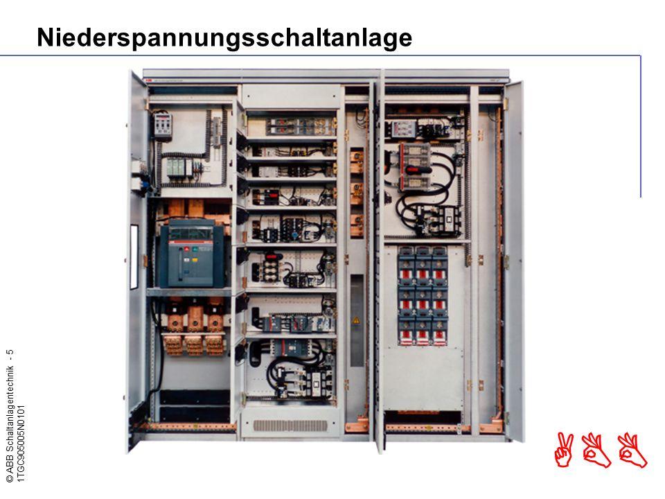 © ABB Schaltanlagentechnik - 5 1TGC905005N0101 ABB Niederspannungsschaltanlage