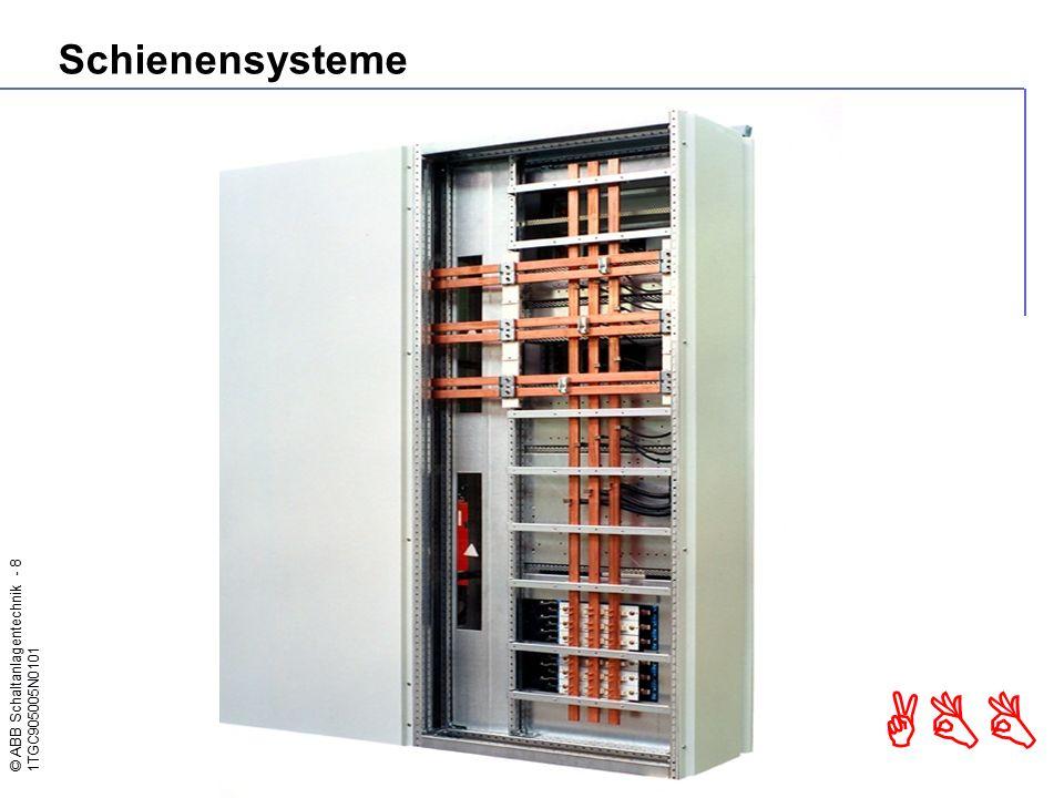 © ABB Schaltanlagentechnik - 8 1TGC905005N0101 ABB Schienensysteme