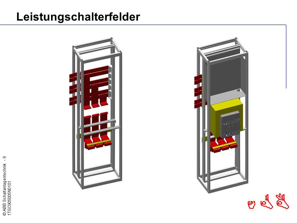 © ABB Schaltanlagentechnik - 9 1TGC905005N0101 ABB Leistungschalterfelder