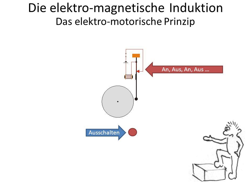 Die elektro-magnetische Induktion Das elektro-motorische Prinzip Ausschalten An, Aus, An, Aus …