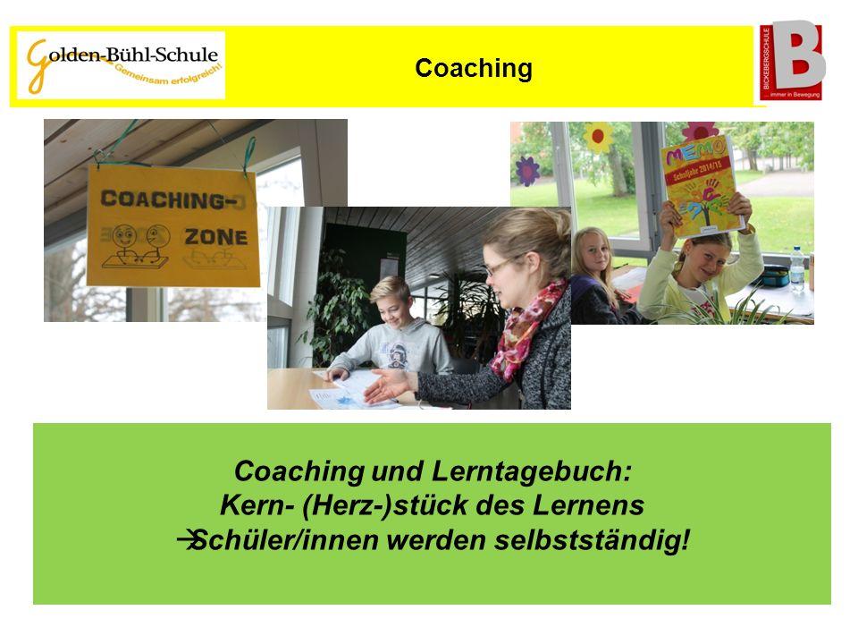 Coaching und Lerntagebuch: Kern- (Herz-)stück des Lernens  Schüler/innen werden selbstständig! Coaching