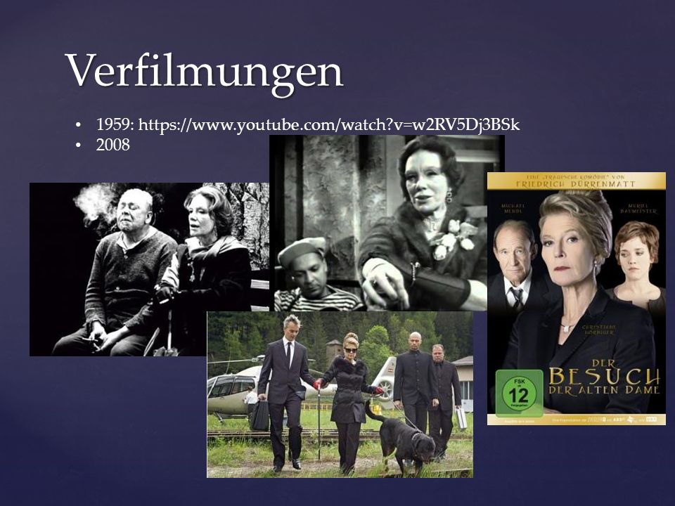 Verfilmungen 1959: https://www.youtube.com/watch?v=w2RV5Dj3BSk 2008
